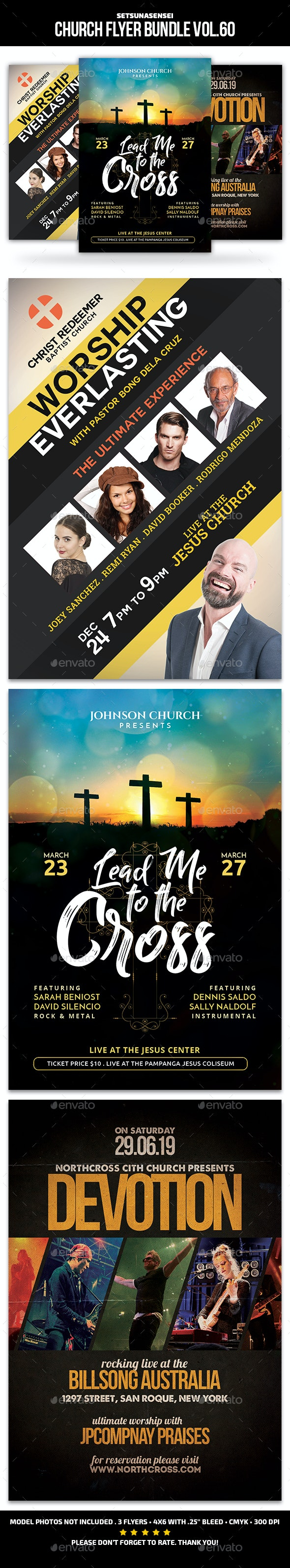 Church Flyer Bundle Vol. 60 - Church Flyers