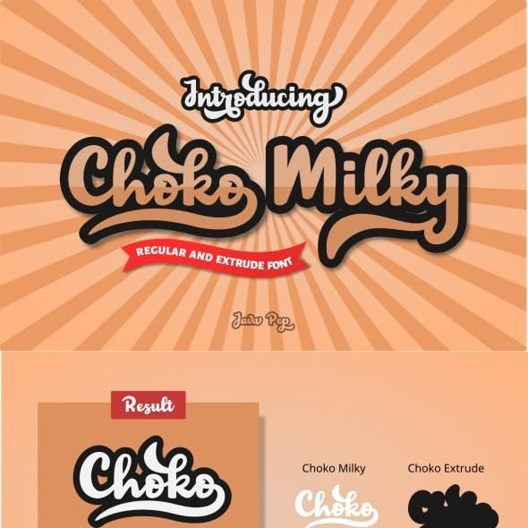 Choko Milky // Fun and Bold Fonts