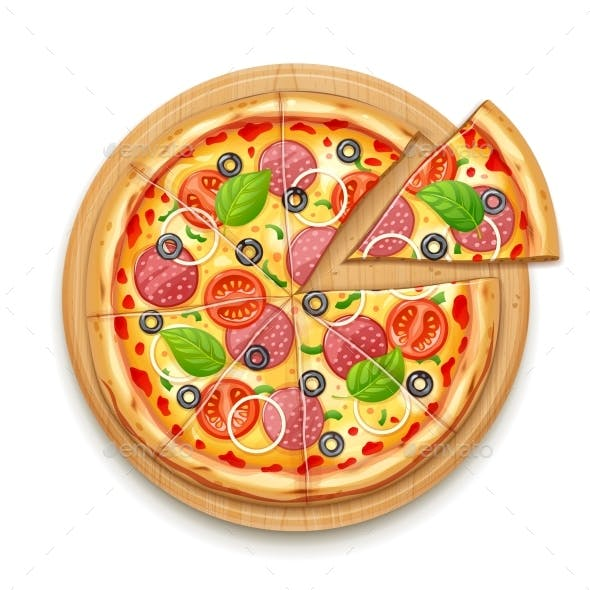 Fresh Pizza with Toppings