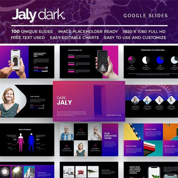 Jaly Dark Google Slide Template