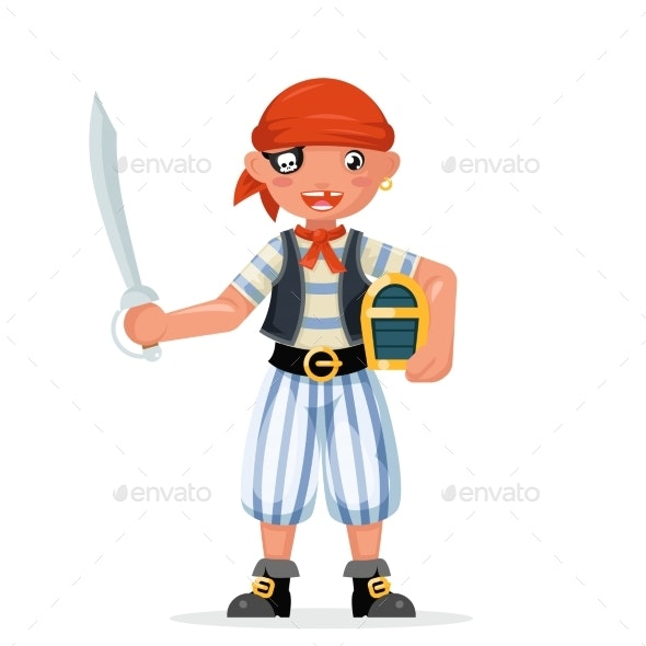 Boy Pirate Child Costume Masquerade Teen Party - People Characters