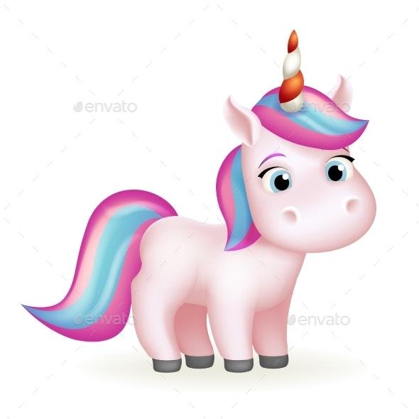 Unicorn Cartoon - Animals Characters