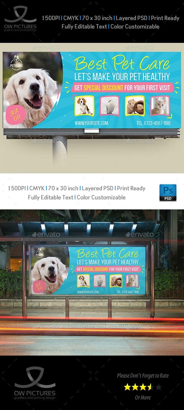 Pet Care Center Billboard Template - Signage Print Templates