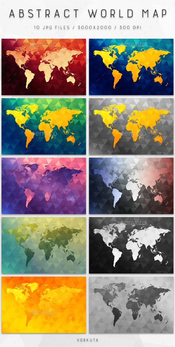Abstract World Map - Abstract Backgrounds