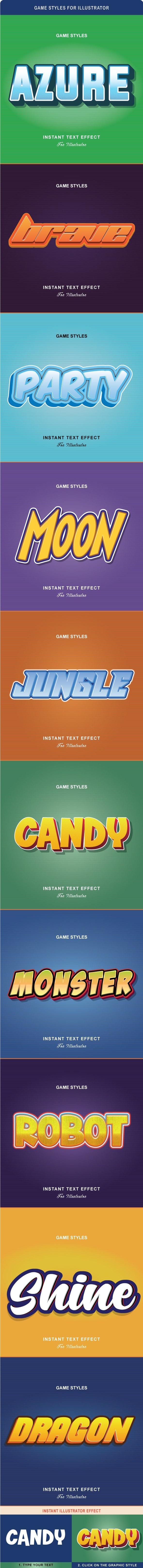 Game Styles for Illustrator - Styles Illustrator