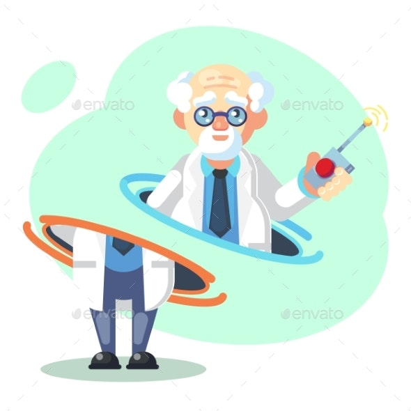 Crazy Old Scientist Teleporting - Miscellaneous Conceptual