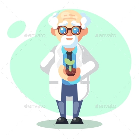 Scientist Conducting a Scientific Experiment - Miscellaneous Conceptual