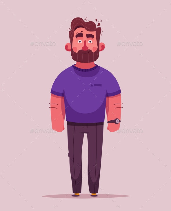 Bearded Guy Character - People Characters