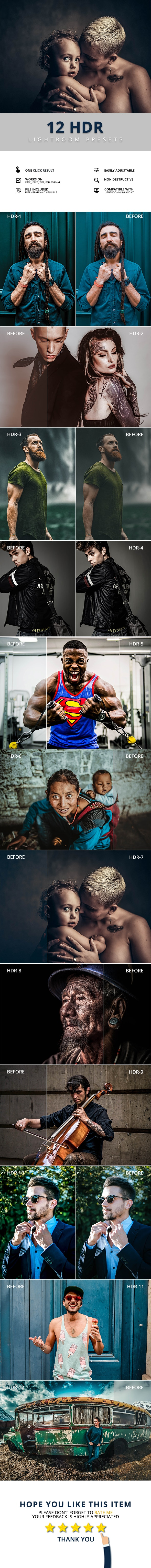 12 Hdr Lightroom Presets - Lightroom Presets Add-ons