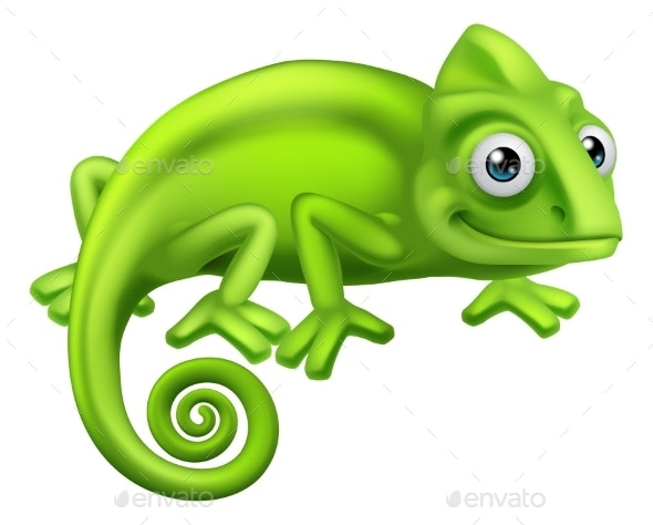 Chameleon Cartoon Lizard Character - Animals Characters
