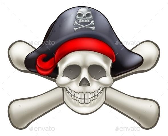 Skull and Cross Bones Pirate - Miscellaneous Vectors