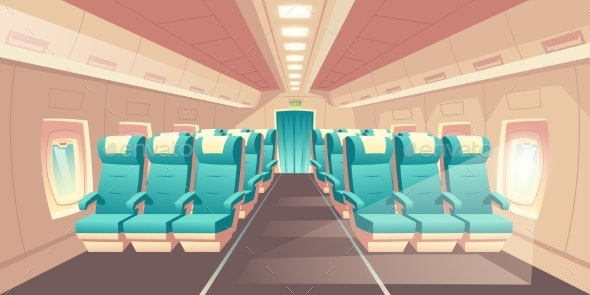 Vector Cabin of Plane - Backgrounds Decorative