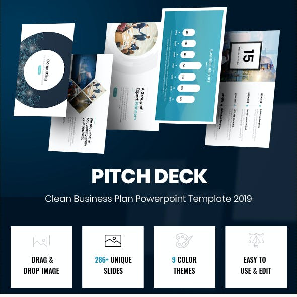 2 in 1 Pitch Deck Bundle Powerpoint Template 2019