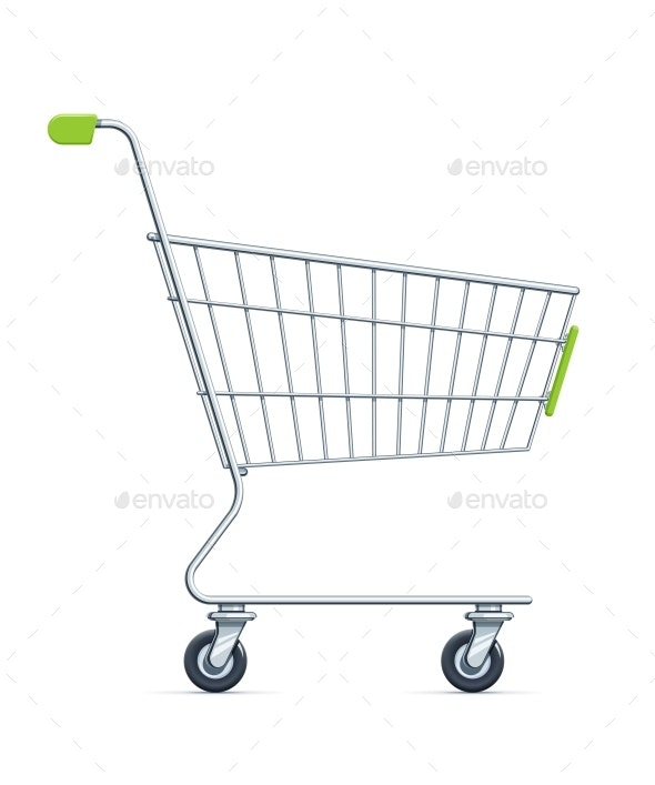 Shopping Cart for Supermarket Products - Man-made Objects Objects
