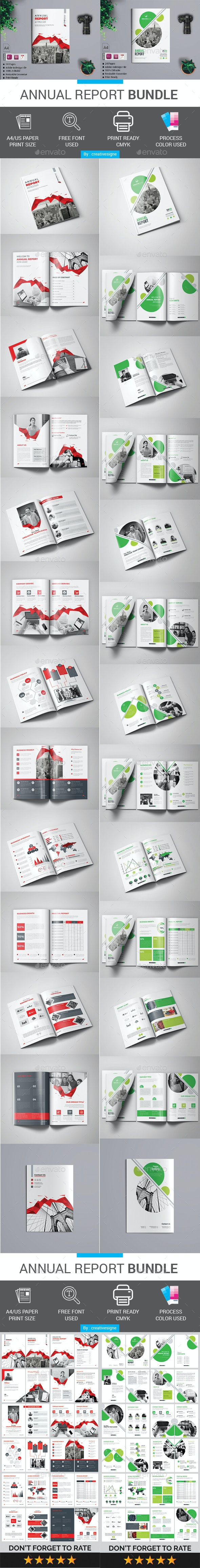 Annual Report Bundle - Magazines Print Templates