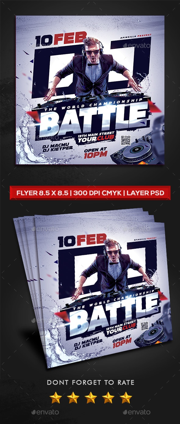 DJ Battle Party Flyer - Clubs & Parties Events