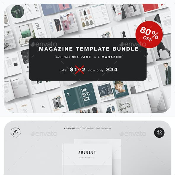 Magazine Template Bundle - 80% OFF