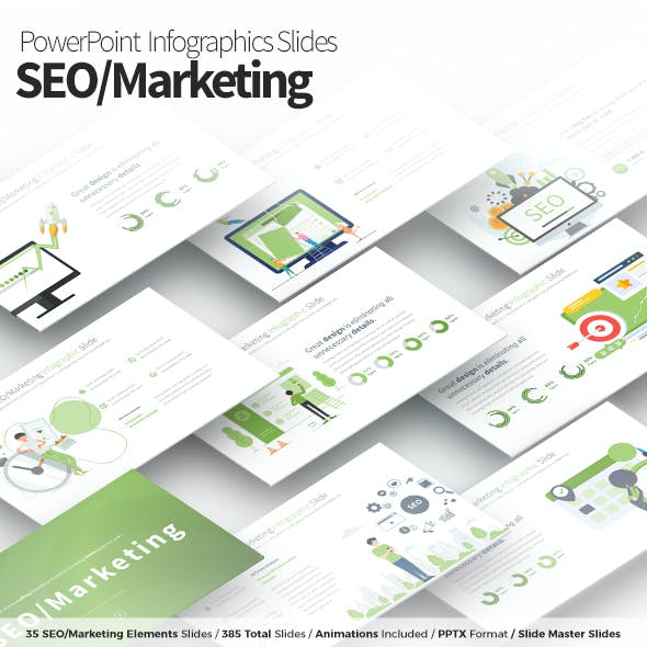 SEO/Marketing - PowerPoint Infographics Slides