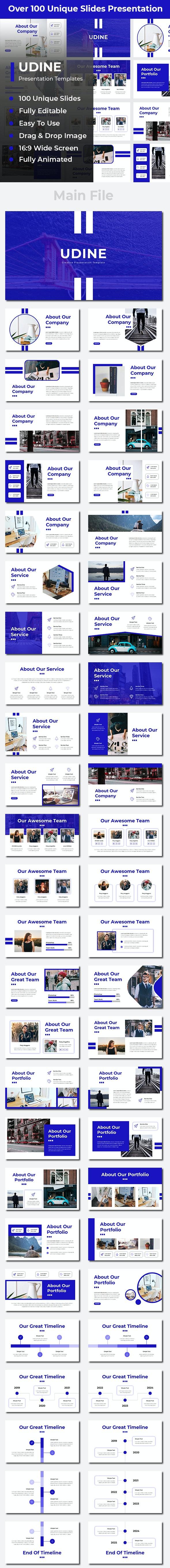 Udine Creative Google Slides - Google Slides Presentation Templates
