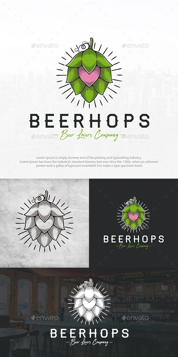 Beer Hops Love Logo