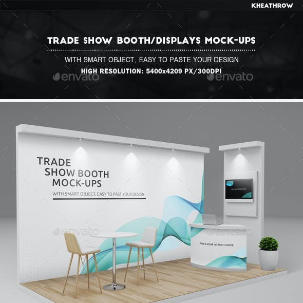 Trade Show Booth / Displays Mock-Ups