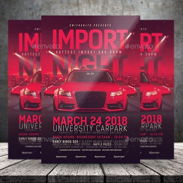 Car Show Flyer - Import