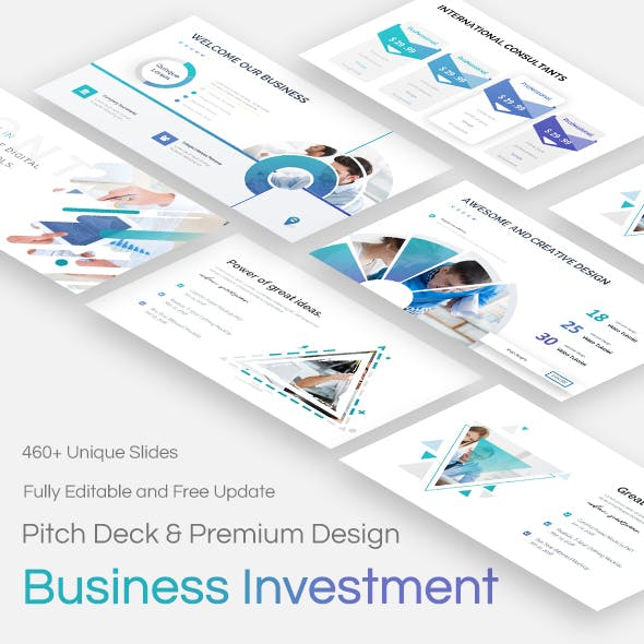 Business Investments Pitch Deck Keynote Template