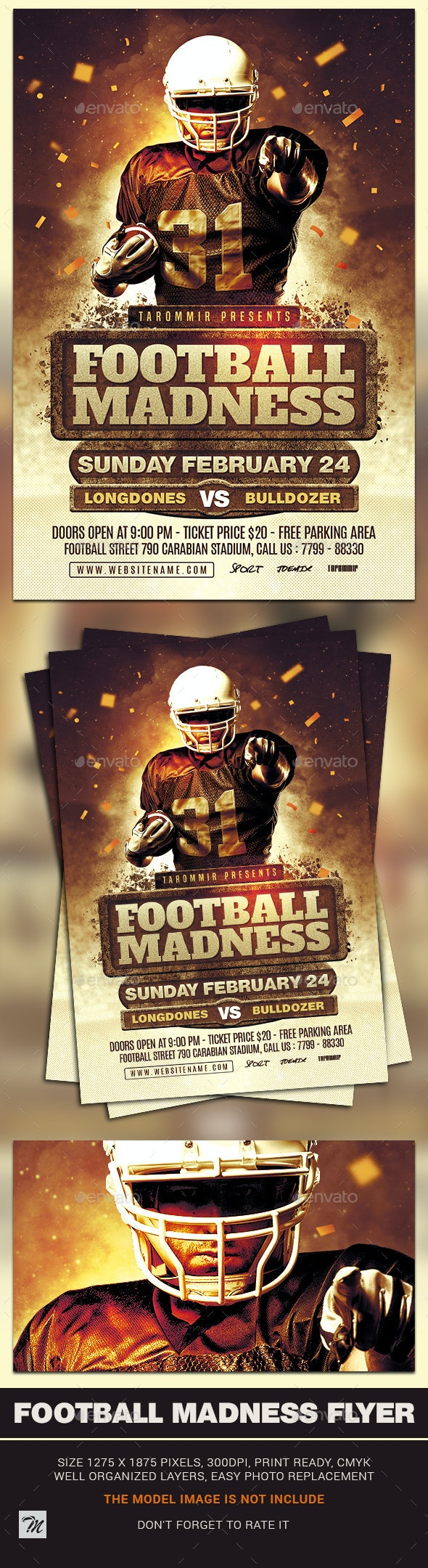 Football Madness Flyer - Sports Events