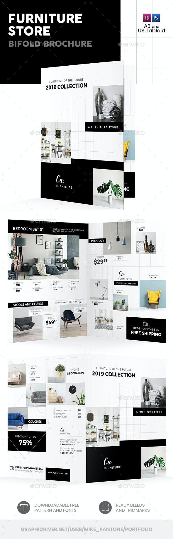 Furniture Store Bifold / Halffold Brochure 4 - Informational Brochures
