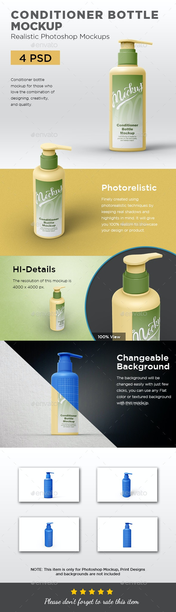 Conditioner Bottle Mockup - Beauty Packaging