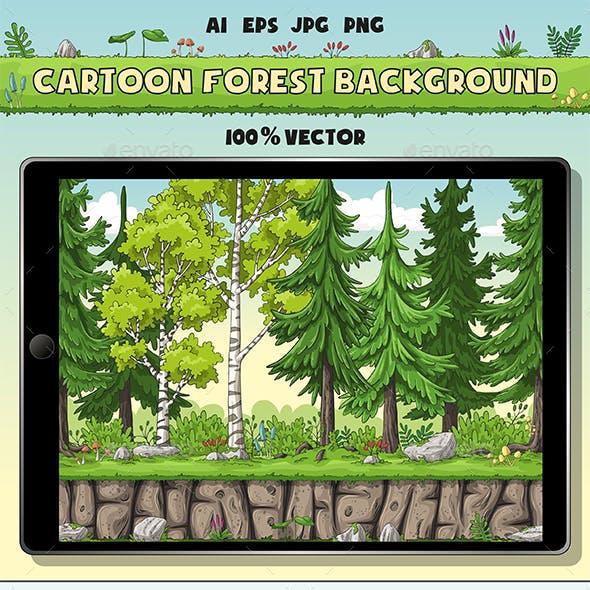Seamless Cartoon Forest Background