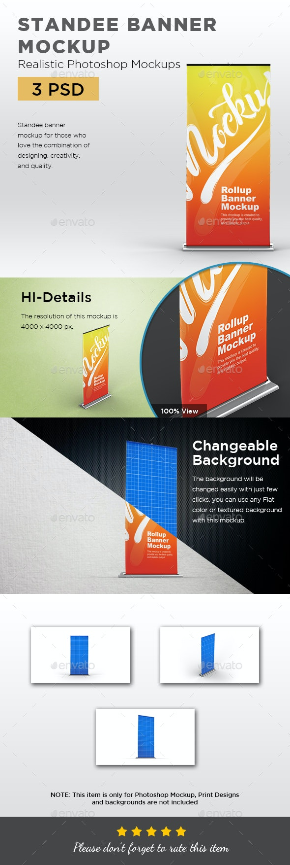 Standee Rollup Banner Mockup - Print Product Mock-Ups