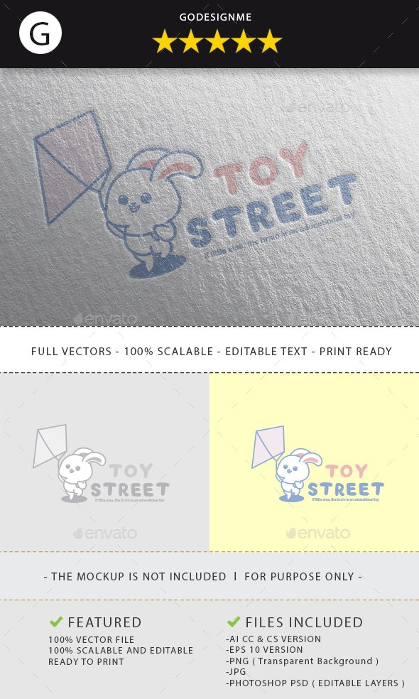 Toy Street Logo Design - Vector Abstract