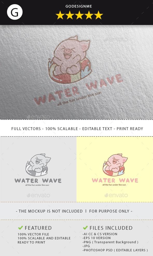 Water Wave Logo Design - Vector Abstract