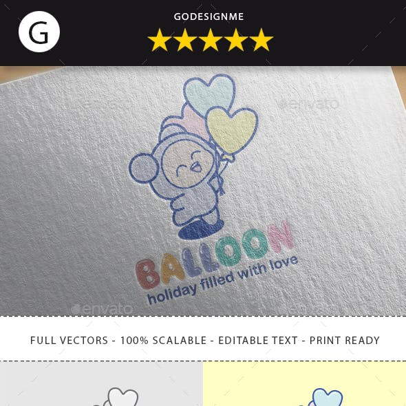 Heart Balloon Logo Design