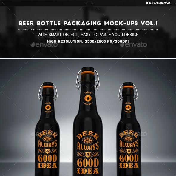 Beer Bottle Packaging Mock-Ups Vol.1