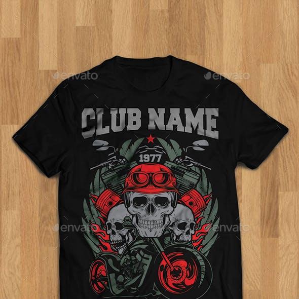 Motorcycle Club Ilusstration Tshirt Design