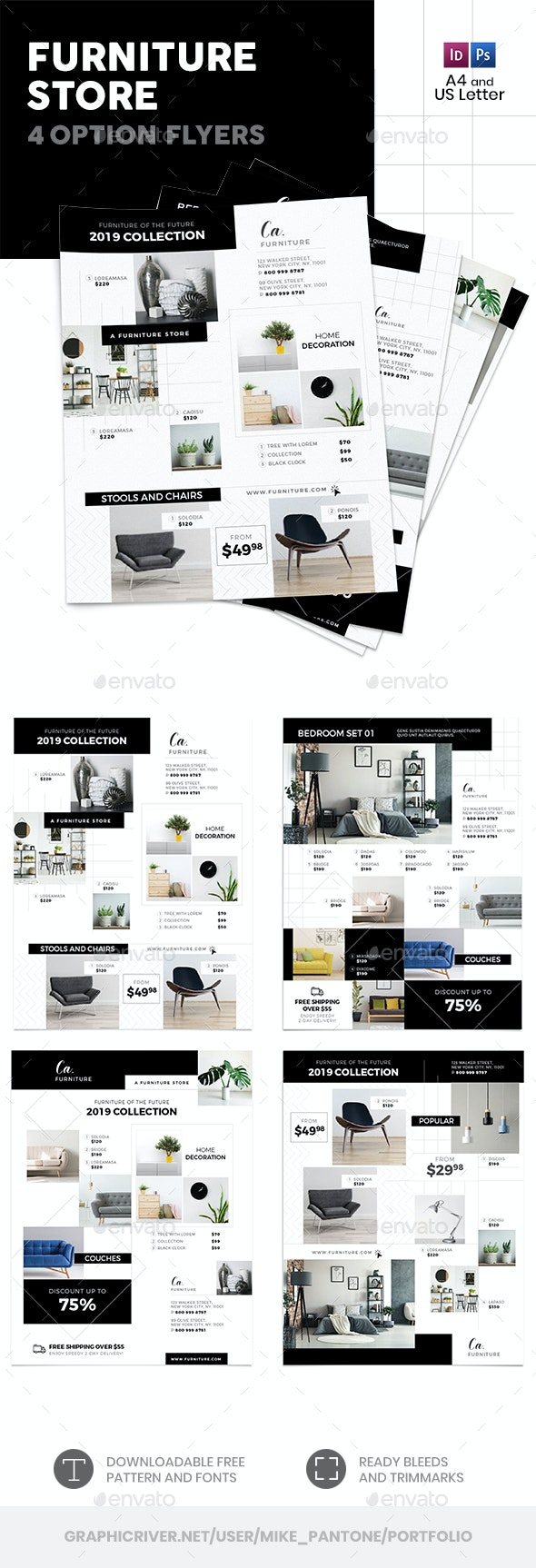 Furniture Store Flyers 4 – 4 Options - Commerce Flyers