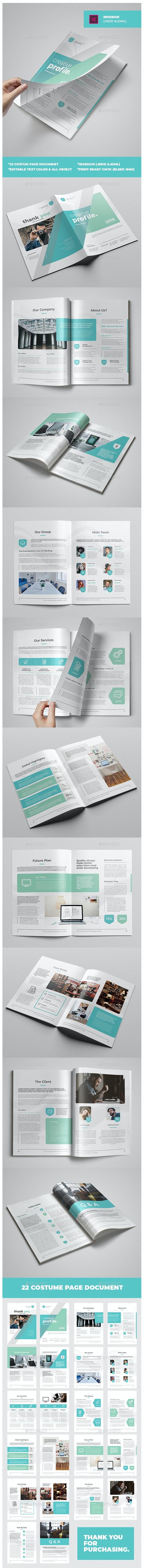Creative Profile Template - Corporate Brochures