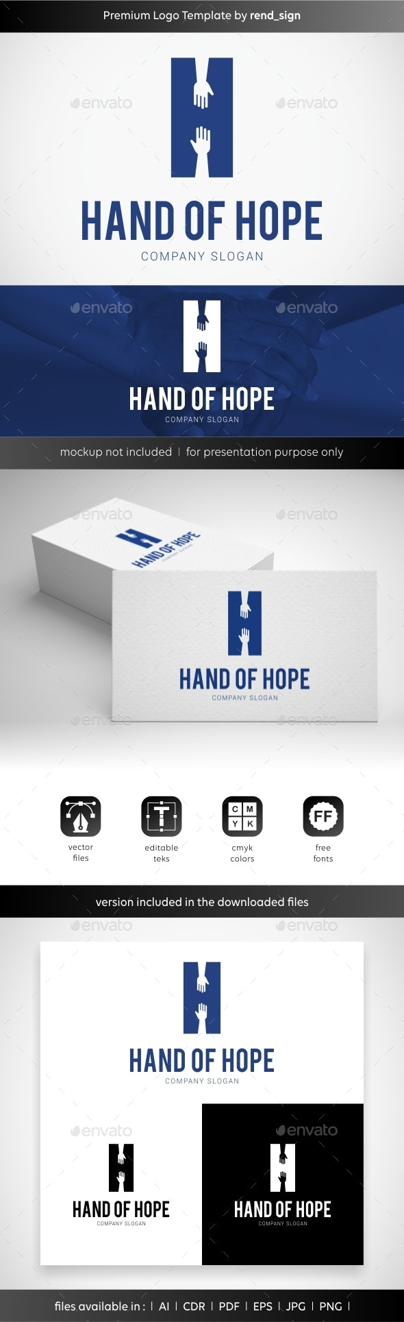 Hand of Hope Logo - Letters Logo Templates