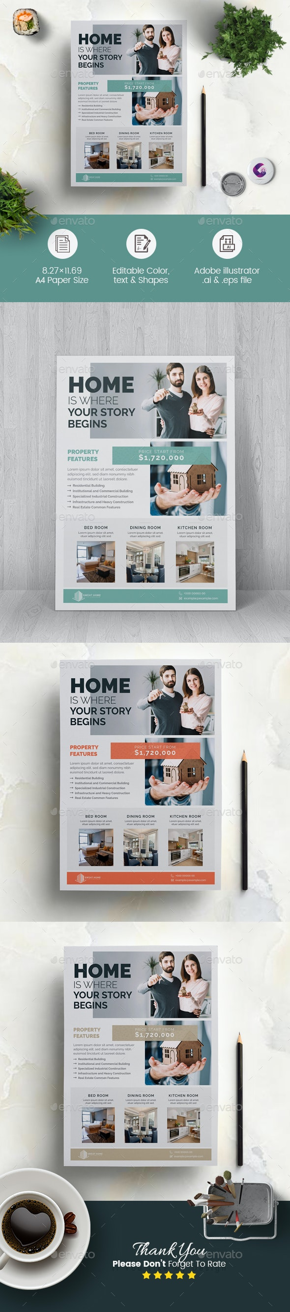 Minimal Real Estate Flyer - Corporate Flyers