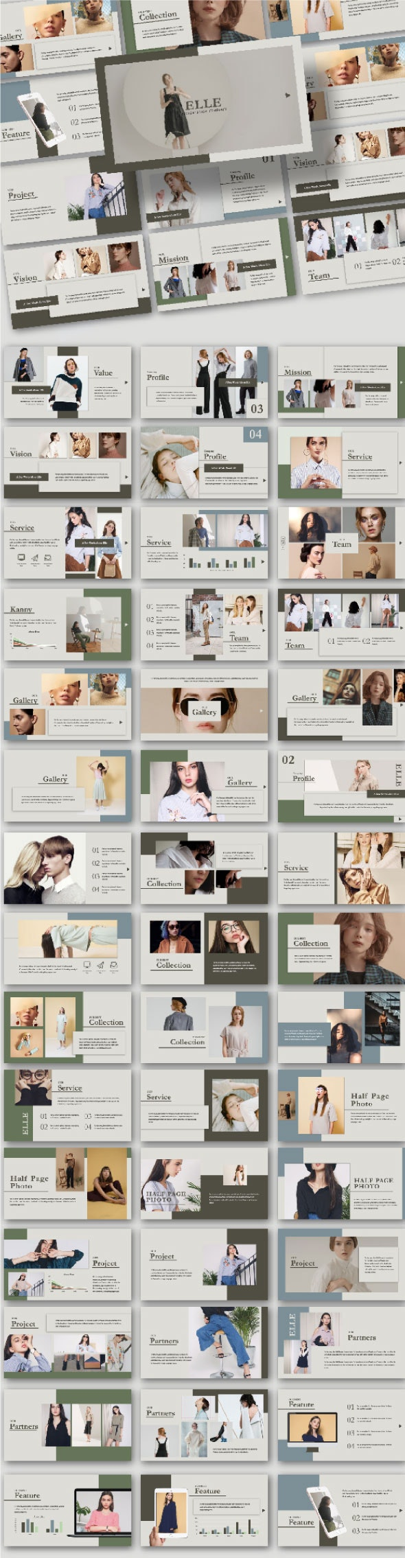 Elle Powerpoint Template - Creative PowerPoint Templates