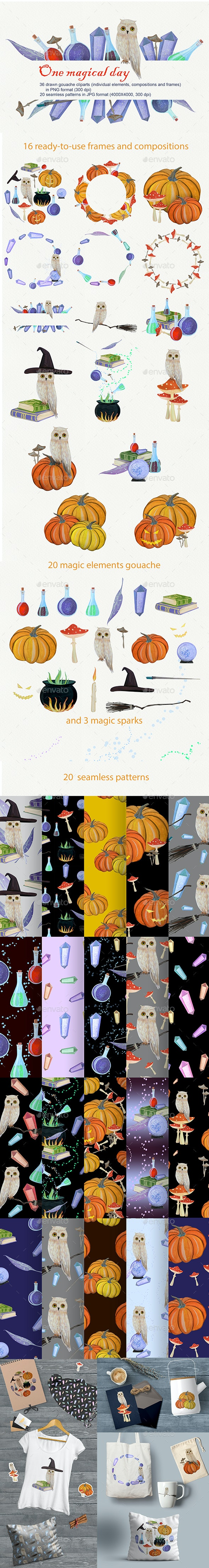One Magical Day - Objects Illustrations