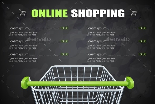 Shopping Cart for Supermarket Products. - Retail Commercial / Shopping