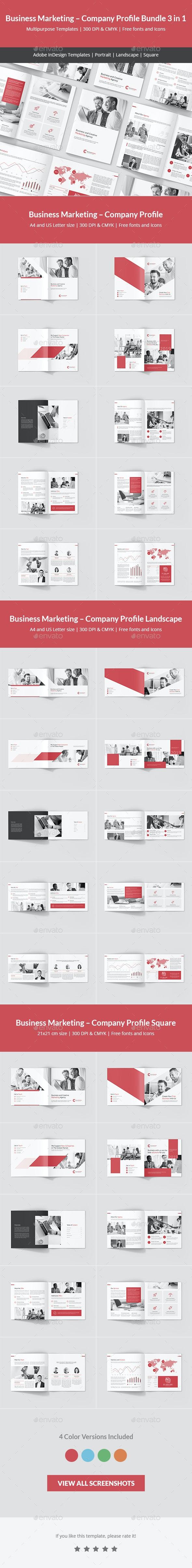 Business Marketing – Company Profile Bundle 3 in 1 - Corporate Brochures
