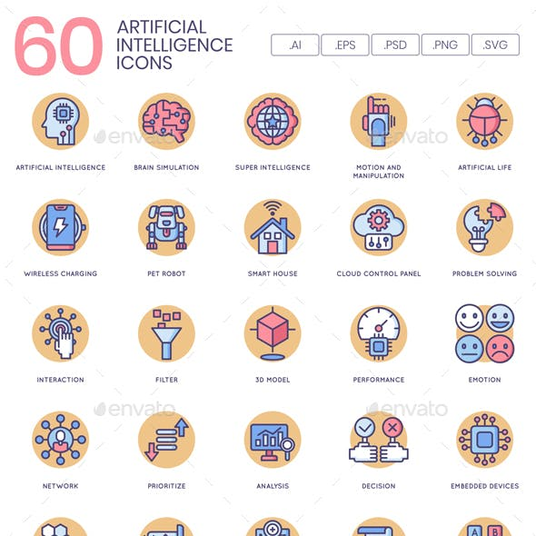 Artificial Intelligence Icons - Butterscotch Series