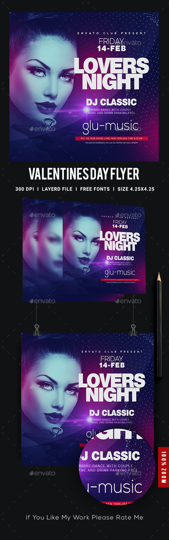Ladies Night Club Flyer - Clubs & Parties Events