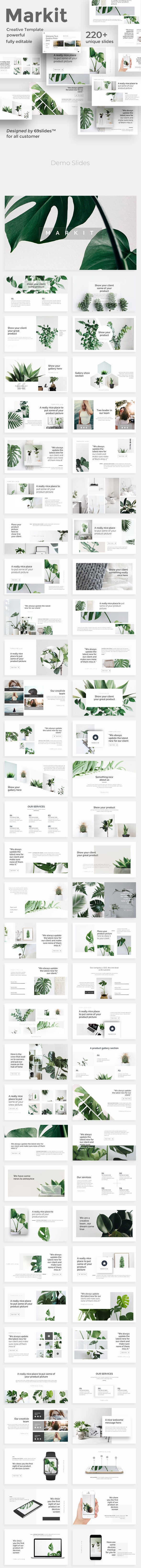 Markit Minimal Google Slide Template - Google Slides Presentation Templates