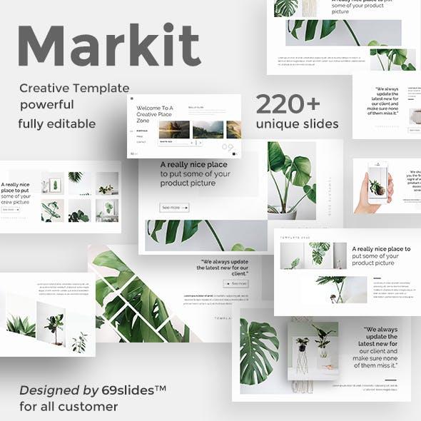 Markit Minimal Google Slide Template
