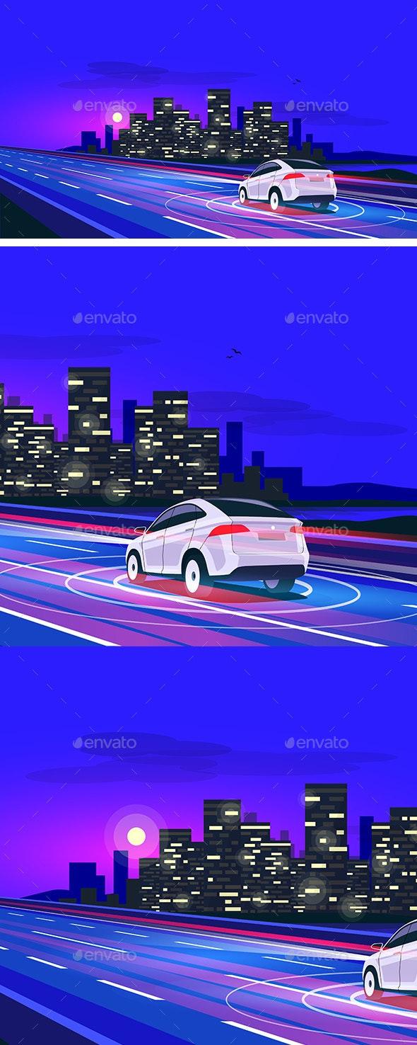 Smart Autonomous Driverless Electric Car - Computers Technology